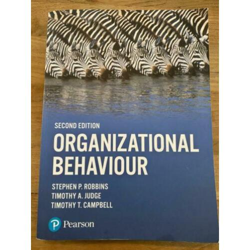 Organizational Behaviour isbn 9781292016559; Bedrijfskunde