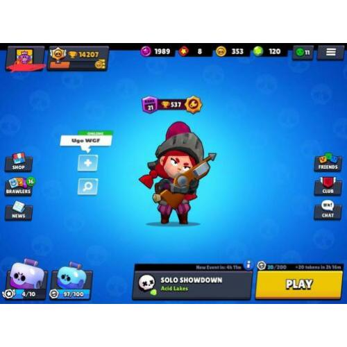 Brawlstars account veel skins 14k lobby proof