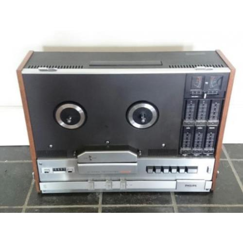 Philips N4416 Bandrecorder Reel to Reel + Stofkap